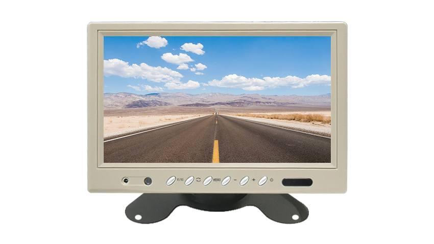 white rear view monitor