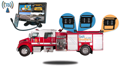 aftermarket backup camera system for fire truck