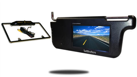 4.3-Inch Clip On Mirror Monitor with Built In Digital Wireless Slip On Backup Camera