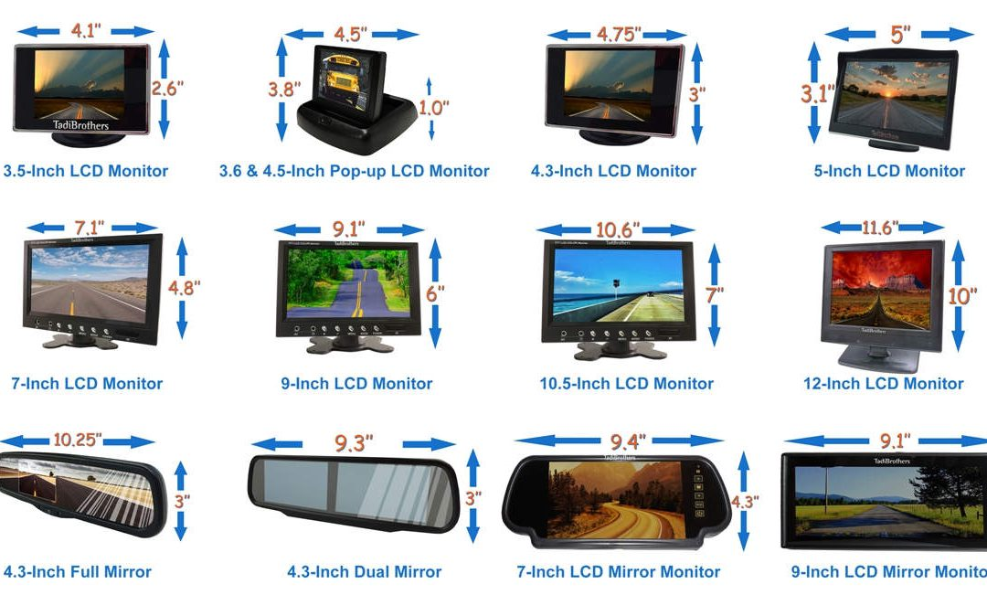 TadiBrothers Monitors for Backup Camera Systems