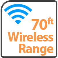 Wireless up to 70ft
