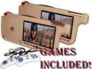 7-Inch Left & Right Visor  with internal DVD Player (Beige)