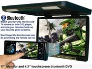 17-Inch Flip Down Screen with In-Dash 4.3-Inch DVD Player (Bluetooth)