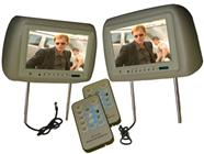 Paired 9-Inch Headrest Monitors (Beige)
