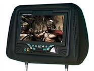 Single 7″ Headrest with Built-In DVD Player (Black)