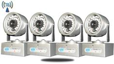 4 Wireless Cameras with Receiver 50FT Range (TB-17)