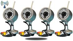 4 Wireless Cameras with Receiver 75FT Range (TB-20)