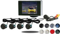 3.5-Inch Color Monitor Dual Parking Backup Sensor System with Sound (TB-S304/5)