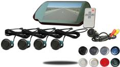 7-Inch Color Mirror Dual Parking Backup Sensor System with Sound and Bluetooth (TB-S702)