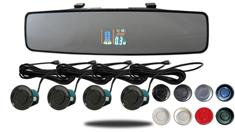 Color Mirror Dual Parking Backup Sensor System with Sound (TB-S618B)