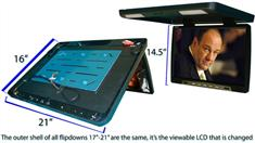 20-Inch Roof Mounted Screen with a 3.5-Inch DVD Player (Beige)