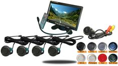7″ Color Monitor Dual Parking Backup Sensor System with Sound (TB-S304/5)