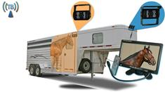7-Inch Horse Trailer Monitor with 2 Wireless Mounted RV Backup Cameras