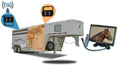 9-Inch Horse Trailer Monitor with 2 Wireless Mounted RV Backup Cameras