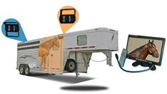9-Inch Horse Trailer Monitor and two 120° Mounted RV Backup Camera (RV Backup System)