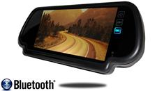 7-Inch Mirror Monitor with Touchscreen and Bluetooth