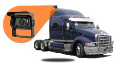 "Semi Trailer Backup Camera System  (7"" Monitor with Wireless Battery Mounted Box Camera)"