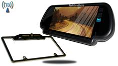 "7"" Mirror with Wireless CCD Steel License Plate Frame Backup Camera"