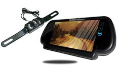 License Plate Backup Camera with Rear View Mirror Monitor