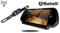 "7"" Bluetooth Mirror with Wireless License Plate Backup Camera"