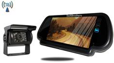 Wireless RV Backup Camera with Rear View Mirror Monitor