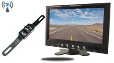 "7"" Monitor with Wireless License Plate Backup Camera"