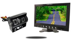 9-Inch Monitor and a 120° CCD Double Mounted RV Backup Camera (RV Backup System)
