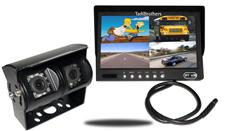 9-Inch Split Monitor and a 120° CCD Double Mounted RV Backup Camera (RV Backup System)
