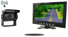 9-Inch Monitor with Wireless CCD Mounted RV Backup Camera