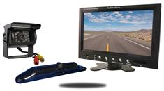 5th Wheel Backup Camera System with a 7-Inch Monitor and 2 Backup Cameras