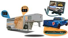 10.5-Inch Horse Trailer 3 Camera System two 120° Birds Eye View and 1 Rear Truck Camera