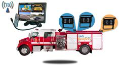 7″ Wireless Ultimate Fire Truck Backup Camera System