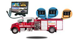 10.5-Inch Ultimate Fire Truck Backup Camera System (3 Cameras)
