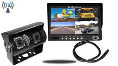 7-Inch Split Monitor and a 120° CCD Wireless Double Mounted RV Backup Camera (RV Backup System)