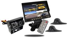 RV Backup Camera System with a Duel Rear Camera 2 side cameras and Monitor