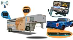 """7"""" Horse Trailer 3 Camera Wireless System with Two 120° Birds Eye View and 1 Rear Truck Camera"""