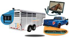 7-Inch  Horse Trailer Rear View System with 2 Cameras (1 for horse trailer and 1 for your truck)