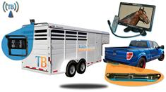 7-Inch Wireless Horse Trailer Rear View System with 2 Cameras for horse trailer and for Pickup truck