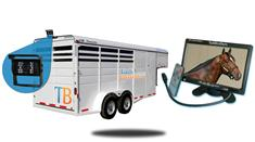 9-Inch  Horse Trailer Monitor and a 120° Mounted Backup Camera (RV Backup System)