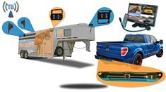 """7"""" Horse Trailer 5 Camera Rear View Wireless System with 4 Trailer and 1 Truck Camera"""