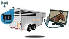 9-Inch Horse Trailer Monitor with Wireless Mounted Backup Camera