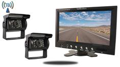 7-Inch Monitor with 2 Wireless Mounted RV Backup Cameras