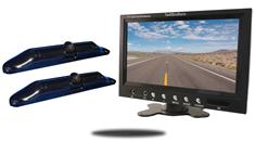 7-Inch Monitor with 2 CCD License Plate Backup Cameras