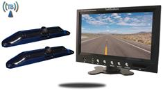 "7"" Monitor with 2 Wireless CCD Steel License Plate Night vision Backup Cameras"