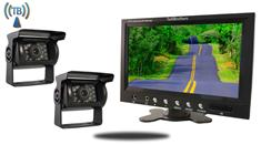 9-Inch Monitor with 2 Wireless Mounted RV Backup Cameras