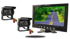 9-Inch Monitor and two 120° Mounted RV Cameras (RV Backup System)