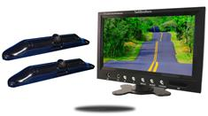 9-Inch Monitor with 2 CCD Black License Plate Backup Cameras