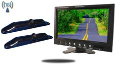 9-Inch Monitor with 2 Wireless CCD Steel License Plate Backup Cameras