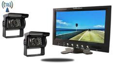 10.5-Inch Monitor with 2 Wireless Mounted RV Backup Cameras