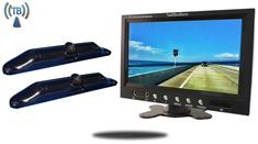 10.5-Inch Monitor with 2 Wireless CCD Steel License Plate Backup Cameras